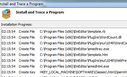 Installation Monitor Software, Install Tracker
